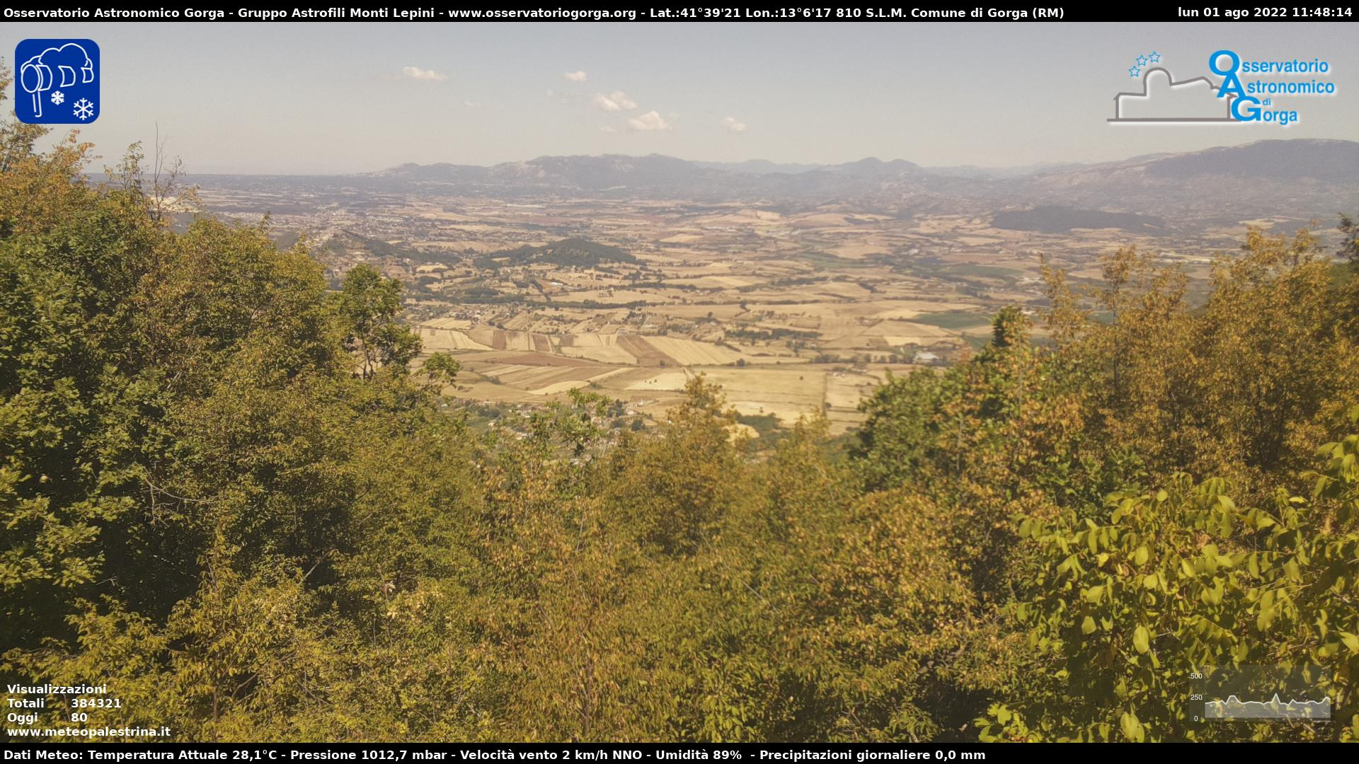 Webcam Valle del Sacco